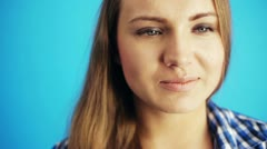 Thoughtful woman Stock Footage
