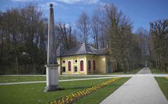 Stock Photo of garden hellbrunn park castle salzburg stadt city