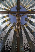 Stock Photo of christ church cross sight in brnbach landmark