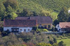 autumn hill styrian landscape season southern - stock photo