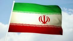 Flag Iran 03 Stock Footage