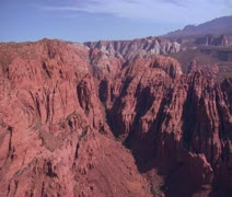 Aerial shot of Snow Canyon State Park St. George Utah Stock Footage