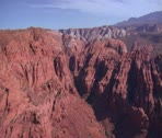 Stock Video Footage of aerial shot of Snow Canyon State Park St. George Utah