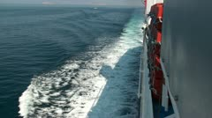 Traveling by ship with calm sea Stock Footage