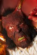 fashion costume devil fear hell krampus mask - stock photo
