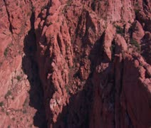 aerial shot of red cliffs and mountains St. George Utah - stock footage