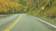 Driving through Dixville Notch in autumn, New Hampshire (timelapse) Stock Footage