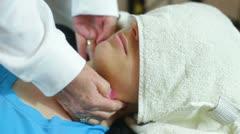 Face massage Stock Footage