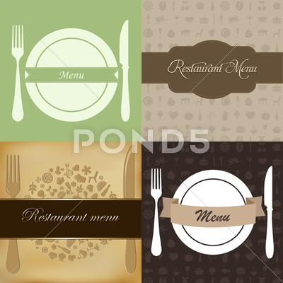 Stock Illustration of restaurant menu set