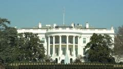 White House tilt down clear sunny day 25p Washington DC Stock Footage