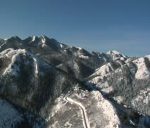 Aerial shot of snowy mountains Stock Footage