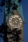 church clock tower fraum nster landmark sacral - stock photo