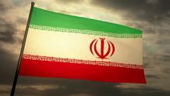 Flag Iran 05 Stock Footage