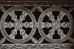 Architectural metal flower ornament Stock Photos