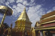 Stock Photo of buddha golden temple wat phra tat doi suthep