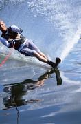 Man waterskiing - stock photo