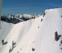 Aerial shot of big and little Cottonwood canyons Utah Stock Footage