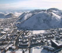 Aerial shot of Park city Utah Stock Footage