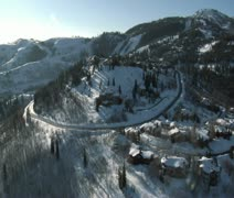 Aerial shot of deer Valley Utah Stock Footage