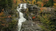 Silver Cascade in autumn, New Hampshire (tilt down) Stock Footage