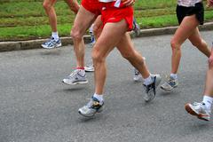 Stock Photo of fitness sport athlete body part jog leisure time