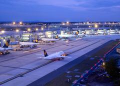 Business logo air passenger aircraft airport Stock Photos