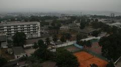 Building with Congo River Kinshasa Democratic Republic of Congo Stock Footage