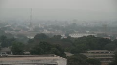 Morning in Kinshasa wide shot of city Stock Footage