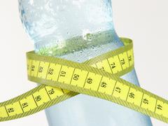 water body part drink drinking fat health kilo - stock photo