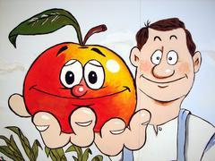 Food pattern fruit apple eat health lose weight Stock Photos