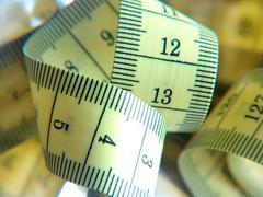 Fat health hip kilo overweight pound slim waist Stock Photos