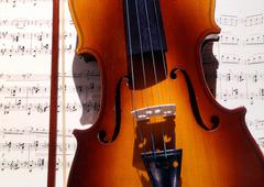 Music school art arch cello clef composer finger Stock Photos