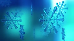Snowflake loopable animation. - stock footage