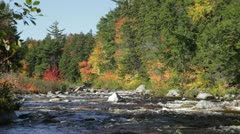 Swift River in autumn, White Mountains, New Hampshire Stock Footage