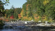 Stock Video Footage of Swift River in autumn, White Mountains, New Hampshire