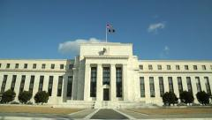 FRB federal reserve bank building tilt down Stock Footage