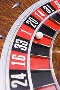 Roulette peli pyörän (lähikuva) Kuvituskuvat