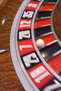 Roulette peli pyörän (close up / hämärtää) Kuvituskuvat