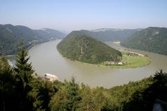 Stock Photo of water austrian continent danube europe river
