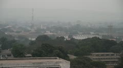 Congo River with modern building Stock Footage