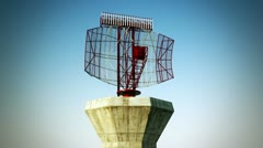 Airport radar. Aerospace aviation travel background. - stock footage