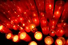 candle decoration memorial religious community - stock photo