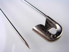 art closed housework needle open sew symbol pins - stock photo