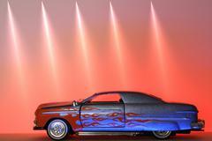 Car technology art fire insurance fireplace glow Stock Photos