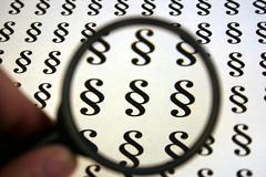 Car logo authority insurance choose clause code Stock Photos