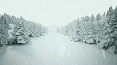 Winter snow landscape. - stock footage