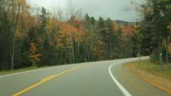 Kancamagus Highway autumn driving time lapse Stock Footage