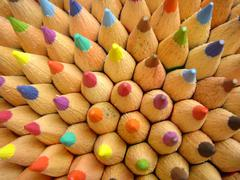 Office school art colorful diagram draw drawing Stock Photos