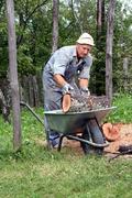 Agrar moottorisaha talous farmer metsä toiminta Kuvituskuvat