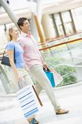 Young couple at a shopping mall Stock Photos